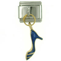 Italian Charms - jewelry dress shoe blue work &  leisure italian charms for bracelets dangle italian charm Image.