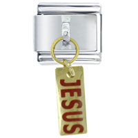 Italian Charms - bracelet jesus dangle religious charms italian dangle italian charm Image.
