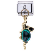 Italian Charms - may birthstone mouse dangle italian charm bracelets Image.
