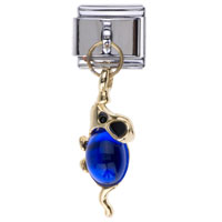 Italian Charms - september birthstone mouse dangle italian charm bracelets Image.