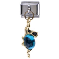 Italian Charms - december birthstone mouse dangle italian charm bracelets Image.