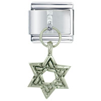 Italian Charms - bracelet dangle silver star of david jewish italian charms dangle italian charm Image.