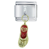 Italian Charms - slipper red dangle italian charms Image.