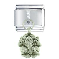 Italian Charms - silver goblin gothic italian charms dangle italian charm Image.