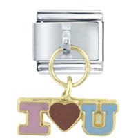 Italian Charms - i heart dangle holiday italian charm bracelet dangle italian charm Image.