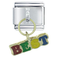 Italian Charms - colorful best friend logo italian charms dangle italian charm Image.