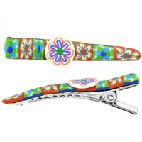 Teens & Kids Jewelry - tropical flower fimo hair clip Image.