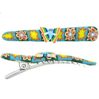 Teens & Kids Jewelry - rainbow butterfly flower fimo hair clip Image.