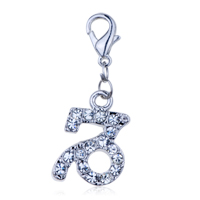 Italian Charms - figure clear crystal clasp charms dangle italian bracelet dangle italian charm Image.