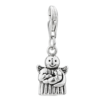 Sterling Silver Jewelry - 925  sterling angel baby lobster clasp pendant dangle european beads fit all brands Image.