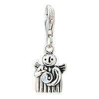 Charms Beads - 925  sterling sliver angel diagrams lobster clasp pendant for dangle european beads fit all brands Image.
