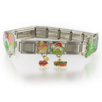 Italian Charms - italian charms various grinch christmas 18  links charms bracelet licensed italian charm Image.
