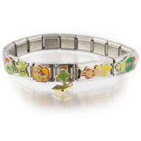 Italian Charms - italian 18  links charm dangling grinch christmas licensed bracelet licensed italian charm Image.