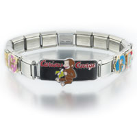 Italian Charms - animal mixed curious george disney monkey licensed italian bracelet licensed italian charm Image.
