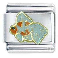 Italian Charms - oranda fish italian charm Image.