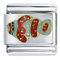 Italian Charms - glitter clown fish italian charms Image.