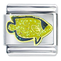 Italian Charms - crescent angel fish italian charms Image.