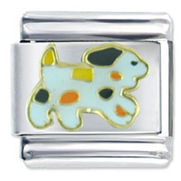 Italian Charms - spotted puppy dog italian charms Image.