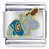 Italian Charms - happy hippo birthstones jewelry italian charm Image.