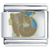 Italian Charms - peach cat italian charms Image.