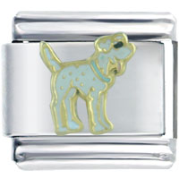 Italian Charms - dalmatian dog italian charm bracelet Image.
