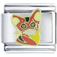 Italian Charms - red calico cat italian charms Image.