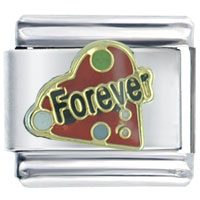 Italian Charms - love forever heart italian charm bracelet Image.