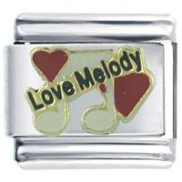 Italian Charms - love melody heart italian charm bracelet Image.