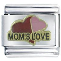Italian Charms - moms love heart love italian charm bracelet Image.