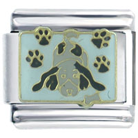 Italian Charms - puppy paw prints dogs italian charms Image.