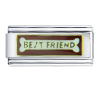 Italian Charms - best friend bone red gift italian charm Image.