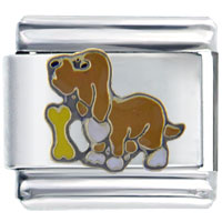 Italian Charms - dog &  bone italian charms Image.