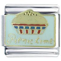 Italian Charms - picnic pie food italian charm Image.