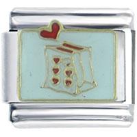 Italian Charms - heart bag italian charm bracelet Image.