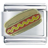 Italian Charms - hot dog mustard italian charms Image.
