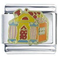 Italian Charms - golden italian charm bracelet halloween candy house christmas gift Image.