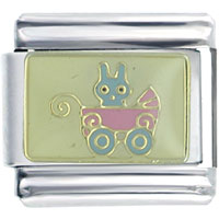Italian Charms - baby bunny in pink sbiagier italian charms Image.