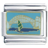 Italian Charms - golden gate bridge sail boat gift italian charm Image.