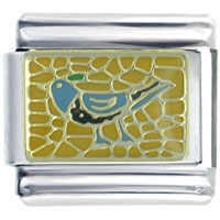 Italian Charms - blue roadrunner bird spring fashion jewelry italian charm Image.