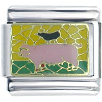 Italian Charms - pig crow spring fashion jewelry italian charm Image.