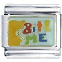 Italian Charms - golden italian charm bracelet bite Image.