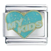 Italian Charms - kids lightblue words &  phrases italian charms Image.