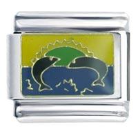 Italian Charms - jumping fish italian charm bracelet Image.