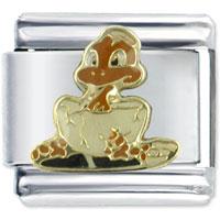 Italian Charms - enamel baby crocodile stainless steel base italian charm link 9 mm Image.