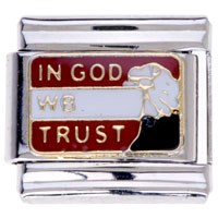 Italian Charms - in god wb trust word insect italian charms Image.
