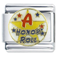 Italian Charms - honor roll words &  phrases italian charms Image.