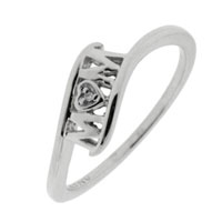 Rings - 925  sterling silver mom ring fashion mothers rings with diamond accent size  8 Image.