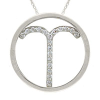 Necklace & Pendants - aries pendant necklace round diamond accent in 925  sterling silver zodiac pendant Image.