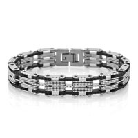 Man's Jewelry - fashion mens jewelry titanium steel bracelet motorcycle chain bracelet Image.