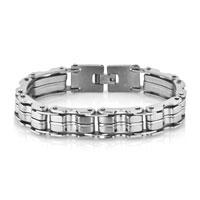 Bracelets - fashion men' s heavy titanium steel stainless steel bracelet Image.